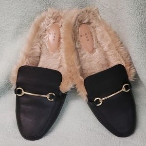 Backless loafers with faux fur A New Way Target